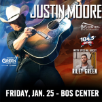 What's Justin Moore's New Years Resolution?