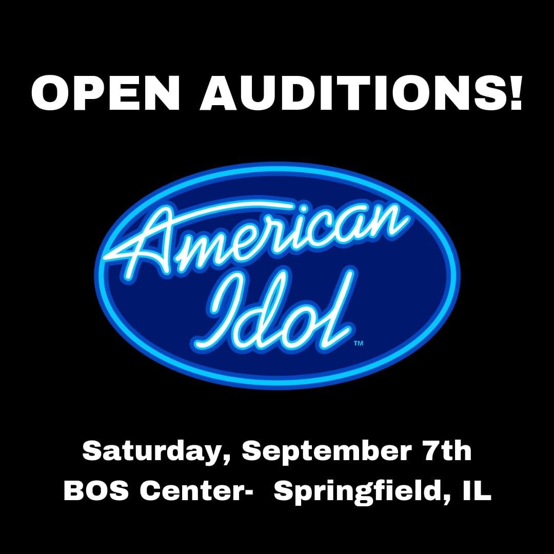 """""""American Idol"""" Open Auditions Coming to Springfield Saturday, September 7th"""