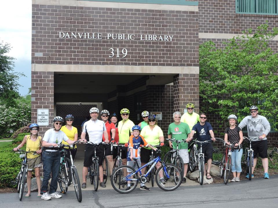 Group pic from Bike To Work Week Downtown Danville Ride [5-15-15]