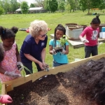 Students See Their Class Project Grow