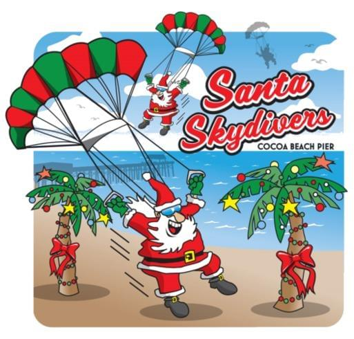 The 3rd Annual Skydiving Santas Event Will Be On Saay December 15th At Cocoa Beach Pier To Help Support Toys For Tots North Brevard